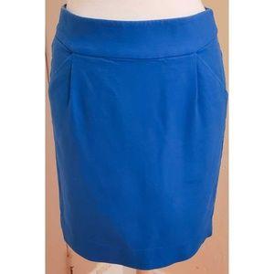 J. Crew Blue The Pencil Skirt
